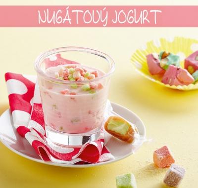 Nugátový jogurt