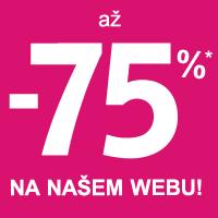Výprodej až -75% + dárek zdarma*