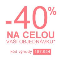 Sleva 40 % na celou objednávku*