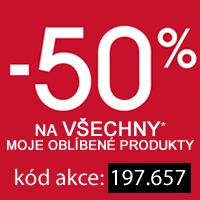 Sleva 50 % na Vaše oblíbené produkty*