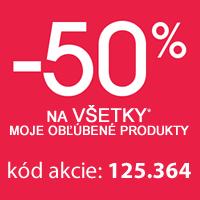 Zľava 50 % 2. a ďalšie produkty
