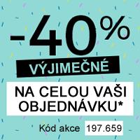 -40 % na celou Vaši objednávku