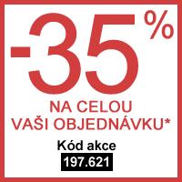 -35% na celou Vaši objednávku*