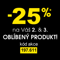 Sleva 25% na Váš 2. a 3. oblíbený produkt