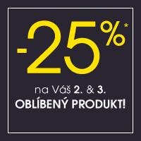 Sleva 25 % na 2. a 3. produkt v košíku
