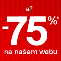 Slevy až -75%