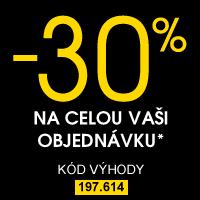 Sleva 30% na celou Vaši objednávku
