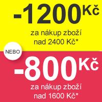 Sleva 800 nebo 1200 Kč