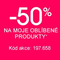 -50% na moje oblíbené produkty*