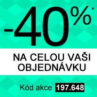 -40% na celou Vaši objednávku*