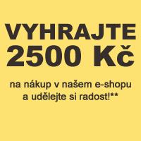 Vyhrajte 2500 Kč