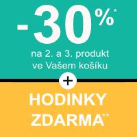 Sleva 30% na 2. a 3. produkt + dárek