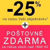 -25% na celou objednávku + poštovné zdarma
